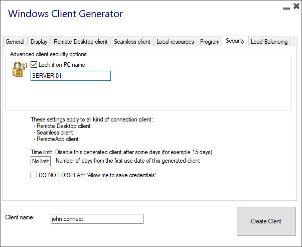 Portable Client Generator – RDPlus