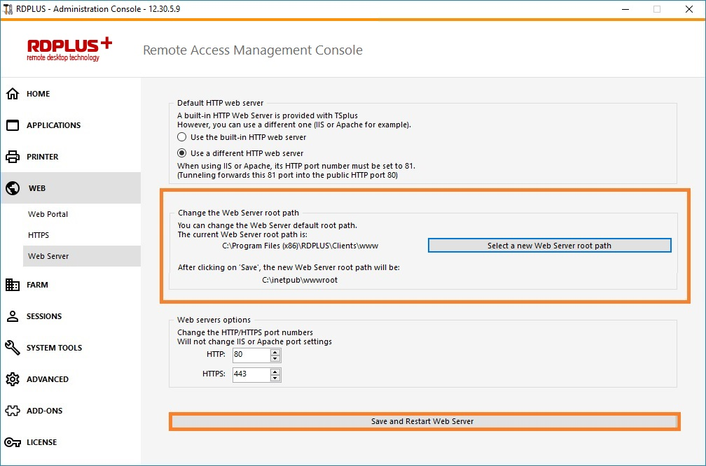 How to use IIS rather than RDPlus default Web servers – RDPlus