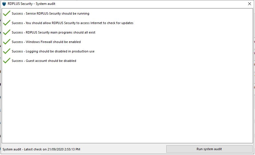 Screenshot System Audit 2