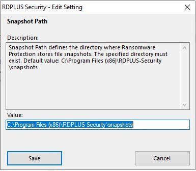 Advanced Ransomware Settings 2