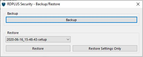 Backup Settings 2
